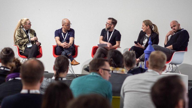 Podiumsdiskussion Cowork2019: Silke Roggermann, Frank Zumbruch, Nico Henkels, Andrea Kranzer, Matthias Burgbacher