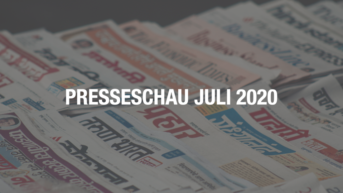 Presseschau für den Monat Juli 2020