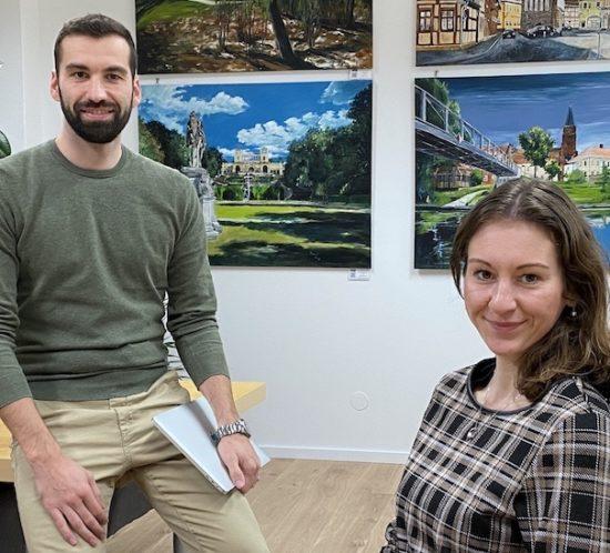 Florian Kunz und Ulrike Lierse vom Coworking Space »Die Waldstatt«