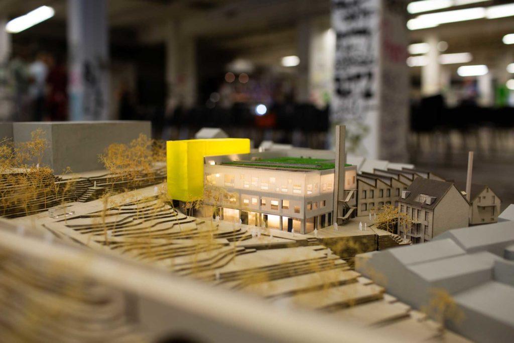 BOB Campus in Wuppertal (Modell: raumwerk.architekten, Foto: Suilian Richon)